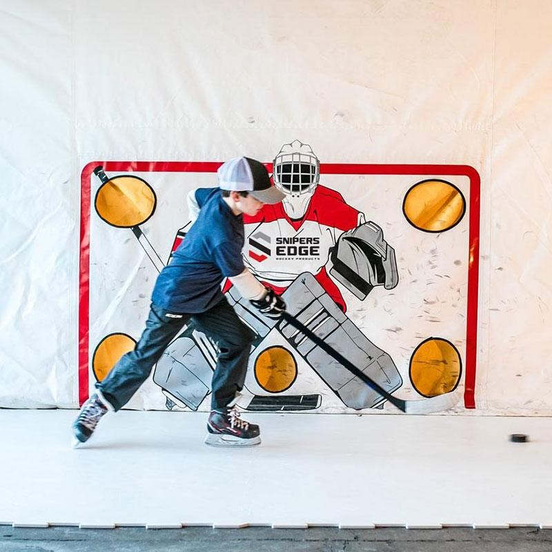 How to Practice on Synthetic Ice Hockey Tiles